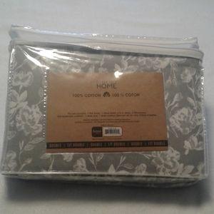 Colour your home cotton flannel sheet set